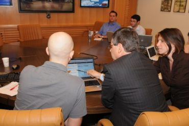 Deputy FM Ayalon participating in a live Facebook and Twitter conference