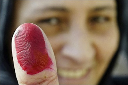 One pleased Egyptian voter.