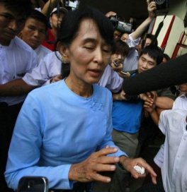 Burma as newly elected democracy leader Aung San Suu Kyi